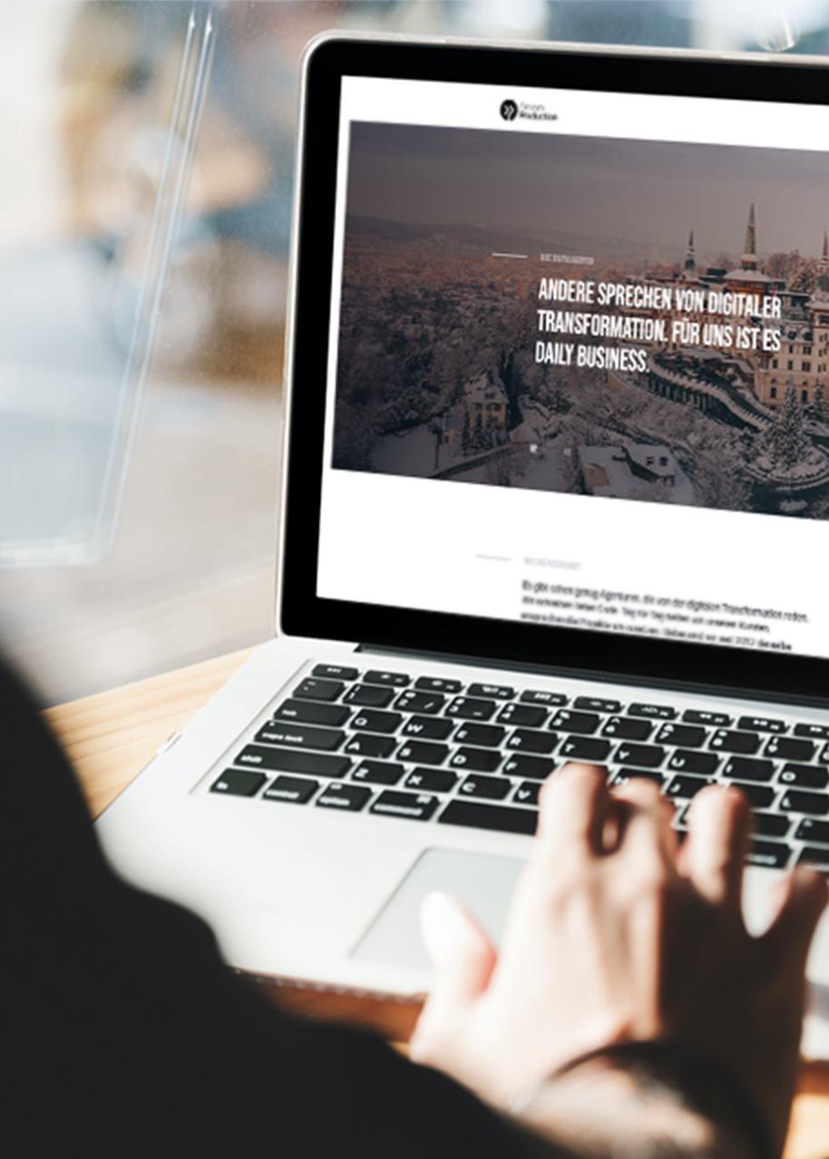 Entwicklung von Corporate Webseiten