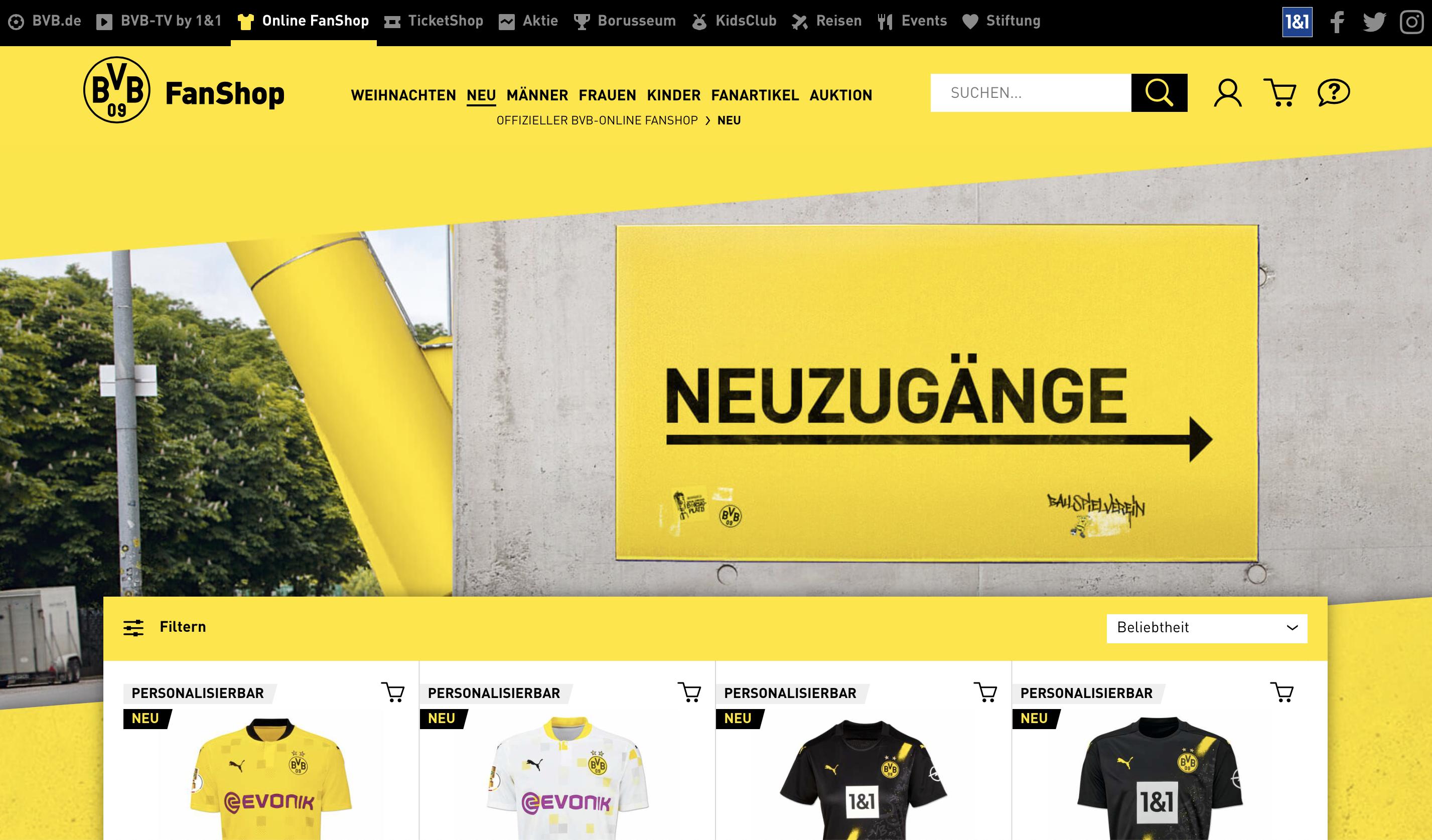 Fanshop-Borussia-Dortmund-BVB-Shopware-Agentur